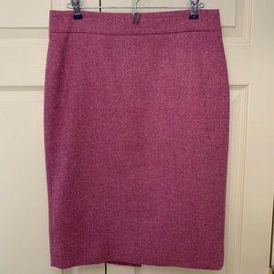 J. Crew pink tweed pencil skirt
